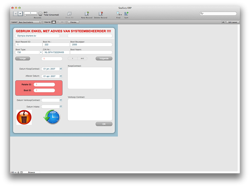 Filemaker Onderhoud
